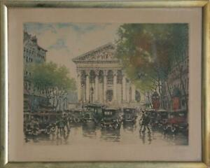 Marcel Julien Baron, Untitled - Rainy Day, Hand Colored Etching, signed in penci