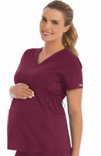 Med Couture Scrubs Style 8459 Maternity Scrub Top in  Wine, Size 2XL