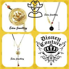 Disney Couture Pirate  GHOST SHIP Necklace Gold Plate Freshwater Pearl Turquoise