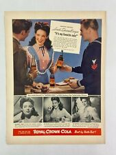 Royal Crown RC Cola Magazine Ad 10.75 x 13.75 Goodyear Plastic Wrap