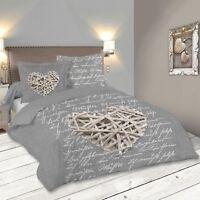Parure de lit WOODLOVE 260 x 240 cm - Gris
