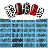 Nail Art Water Transfers Stickers Decals Flowers Leopard Animal Print Stamping