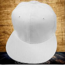 10 X Snapback Baseball Plain Cap Funky Hip Hop SP Retro Classic Vintage Flat Hat