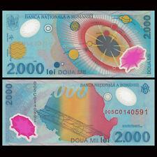Romania 2000 Lei, 1999, P-111, Polymer, UNC