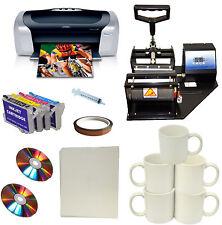 Mug Cup Heat Press Printer Refil Ink Cartridges Transfer Paper Start-up Bundle
