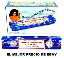 INCIENSO NAG CHAMPA AZUL PACK 12  CAJITAS DE 15 GRS + MUESTRAS GRATIS