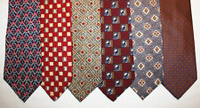 NEW Lot of 6 Designer Neck Ties with Patterns, Countess Mara and more L002