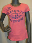 Superdry Chemise Stade Speedway - rose - col rond tee-shirt taille XS & S