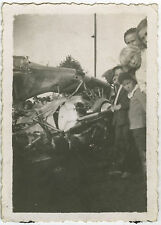 PHOTO ANCIENNE - ACCIDENT AVION CURIOSITÉ - PLANE CRASH - Vintage Snapshot