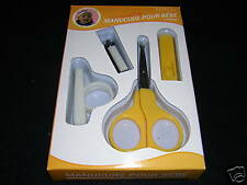 set manucure 4 pieces pour bébé, ciseaux + coupe-ongles