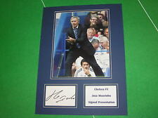 Jose Mourinho Signed Chelsea FC Press Photograph Presentation Mount