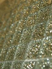 SAMPLE OF GLASS MOSAIC TILES GLITTER SILVER/CHROME - (9 MOSAIC PIECES)