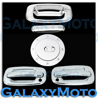 99-06 GMC Sierra Triple Chrome 2 Door Handle w.PSG Keyhole+Tailgate+Gas Cover