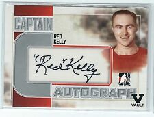 2015-2016 ITG Final Vault 2011-2012 Captain-C Series Red Kelley Autograped Card