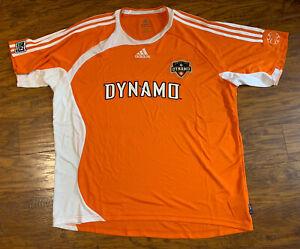 Houston Dynamo 2007 MLS Soccer Home Jersey Size XXL Adidas Climalite