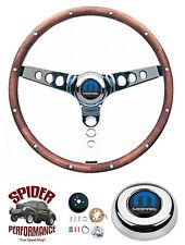 "1970-1987 Dodge pickup steering wheel 2wd 13 1/2"" CLASSIC WALNUT steering wheel"