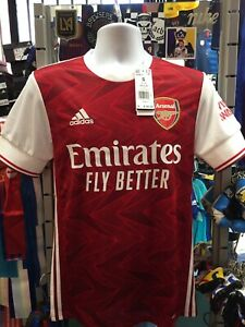 Adidas Arsenal Home 20-21 Red White Soccer Jersey Size S Men's Only