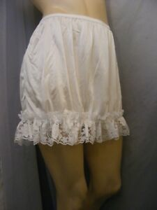 Plus size half slip white nylon with lace plus size 3x under slip undergarment dress slip skirt slip waist 38\u201d