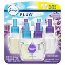 Febreze Plug Mediterranean Lavender Scent Air Freshener Scented Oil Refills 3pk