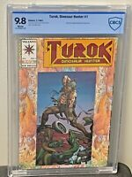 TUROK Dinosaur Hunter #1 9.8 HIGHEST Red Foil Embossed Chromium Valiant CGC<CBCS