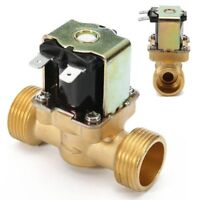 New 3/4 INCH NPSM 12V DC Slim Brass Electric Solenoid Valve Gas Water Air B3P5