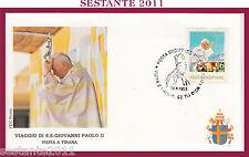 W19 VATICANO FDC ROMA VIAGGIO PAPA GIOVANNI PAOLO II IN ALBANIA TIRANA 1993