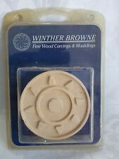 7.5cm Winther Browne Mouldings 4 Carvings SUN RAYS Compressed FLEXIBLE Wood