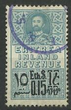 ETHIOPIA / ERITREA 1960 $0.15 PALE BLUE RARE REVENUE USED