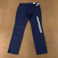 Old Navy Women's Size 4 Darkest Hour Blue Mid-Rise Pixie Ankle Chino Pants NWT