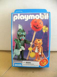 Playmobil 1998 Halloween Costumes Dragon Tiger Jack-O-Lantern 3026 mf MIB sealed