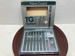 Faber-Castell TG1  7 PC Technical Drafting Pen Set used see pics