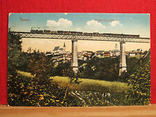AK - Znaim / Znojmo - gel. 1914 - Nordwestbahnbrücke mit Eisenbahn