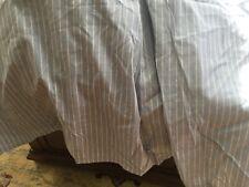 Bed Skirt King Size Biltmore for Belk,Platform 76�, Blue/Cream Stripe,18� hang
