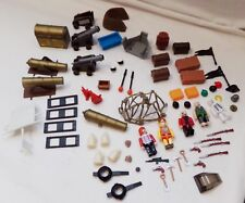 PlayMobil Toys Lot 68 pcs Pirate Cannon Treasure Chest People Guns Flags