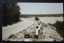 Scenic Drive along Duck Lake, Whitehall, Michigan Rppc vintage postcard 1941