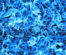 "HYDROGRAPHIC FILM HYDRO DIPPING WATER TRANSFER FILM BLUE FLAMES - 38.5"" x 19"""