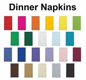 Paper Dinner Napkins Folded Guest Hand Towels Solid Colors Disposable - 48 Ct