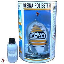 Resina poliestere liquida trasparente bicomponente per barche stampi 1 e 5 litri