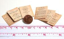 1343# Musical library von 1842 - 6 Stück - Puppenhaus - Puppenstube - M 1zu12