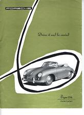 1955 Porsche 356 Pre-A Convertible Cabriolet Brochure - Reproduction