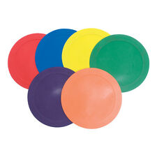 "Color My Class® 9"" Non-Slip Spot Markers - Prism Pack of 6"