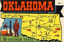 Vintage Travel Decal Replica Window Cling - Oklahoma