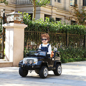 12V Kids Electric Ride Toy Truck Jeep Car w/ Remote Control 2 Speeds Lights MP3