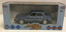 MOTOR MAX 1/24 1983 PLYMOUTH RELIANT BLUE AMERICAN GRAFFITI RARE NEW MODEL CAR