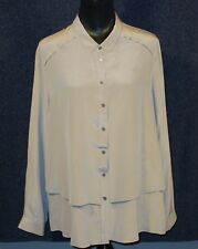 Poetry Women's NWOT Size 16 Grey 100% Silk Blouse