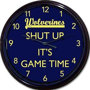 Michigan Wolverines Ann Arbor NCAA Football Wall Clock Shut Up It's Game Time!