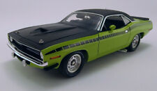 1971 PLYMOUTH HEMI AAR CUDA SUBLIME GREEN RARE BLACK VINYL TOP 1:18 ACME GMP