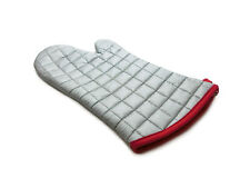 """BBQ CHOICE 13"""" Silver Quilted Insulated Oven Mitt - Barbecue, Kitchen, Baking"""