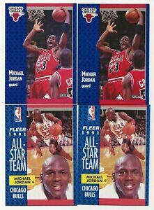 Lot of 7 1991-92 Fleer Michael Jordan Cards Chicago Bulls HOF
