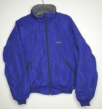 Vintage 90s Patagonia Blue Bomber Jacket Mens Medium Fleece Lining Free Ship